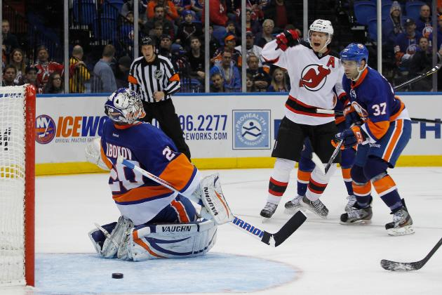 NJD 2, NYI 1: Rust Shows, Isles Falter in Opening Night Goaltending Duel