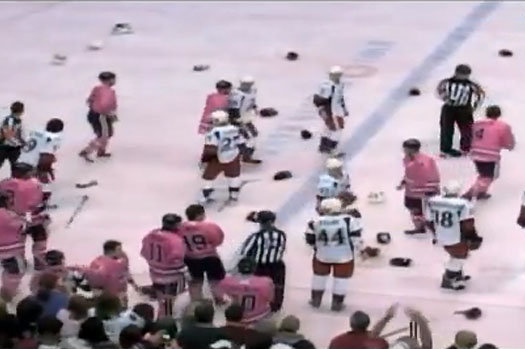 Watch Insane Benches Clearing Hockey Brawl