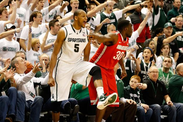 Spartan's Adreian Payne Stays Red Hot in Return to Starting Lineup Against OSU