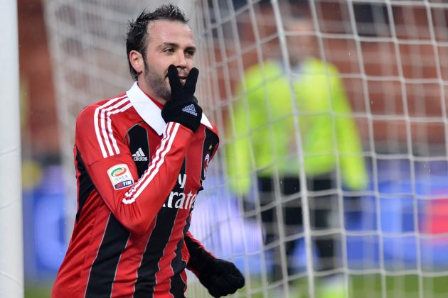 Serie A: Pazzini Helps Milan Up to Sixth, Napoli Held