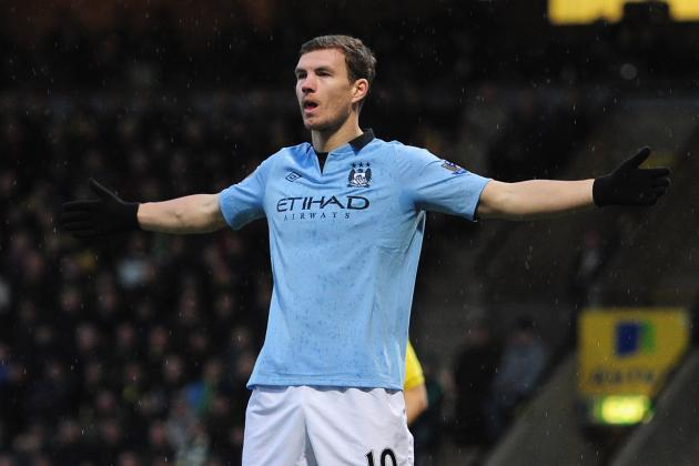 Edin Dzeko Is Confident in Manchester Citys Pursuit of Manchester United