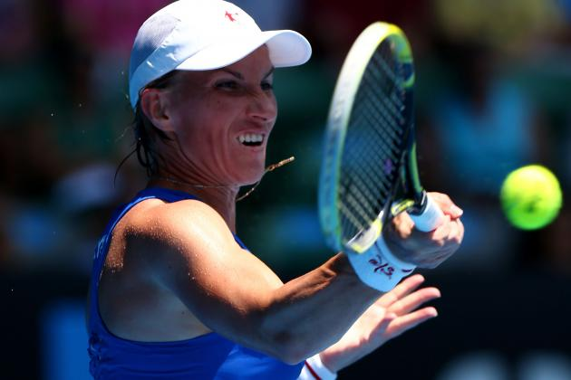 Kuznetsova Takes Down Wozniacki at Australian Open