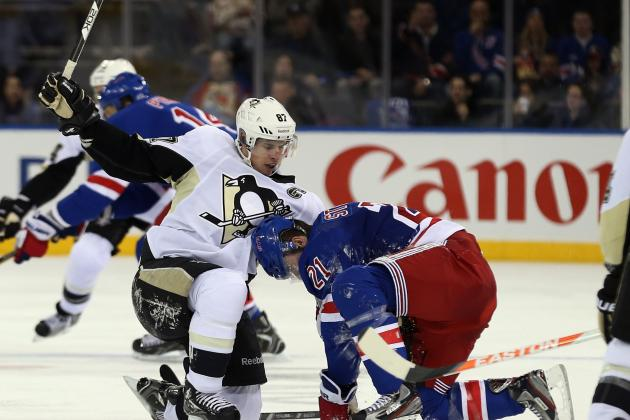 Penguins rough up Rangers, 6-3