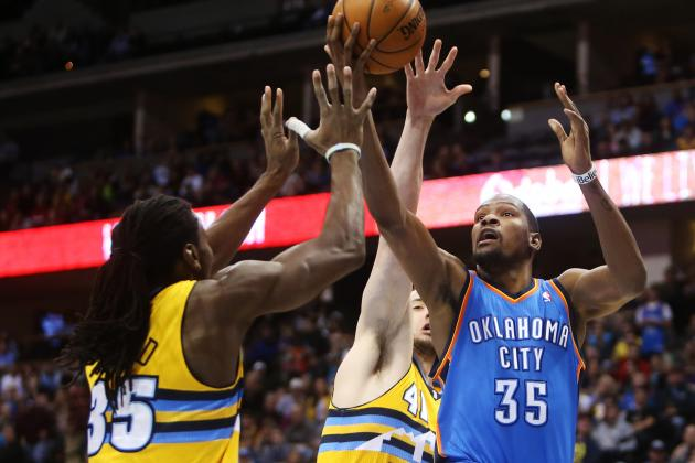 Faried Helps Nuggets Beat Thunder in Overtime