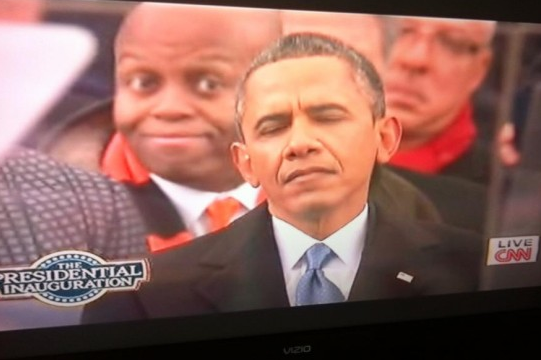 Craig Robinson Photobombed President Obama During Inauguration