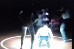 Seriously: Light Fixture Falls on Wrestler's Head During Match