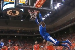 Nerlens Noel Jumped over a Defender's Head While Catching an Alley Oop