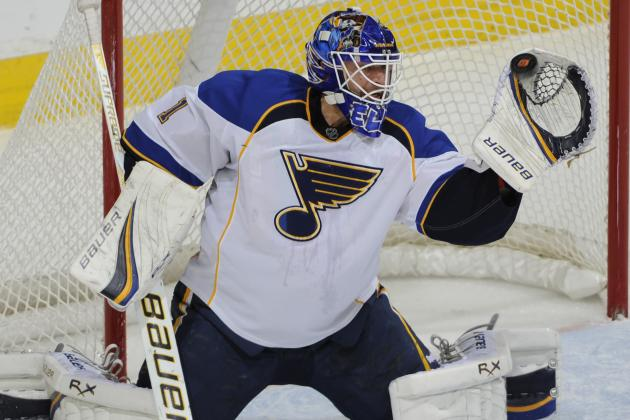Elliott Shines After Blues Pull Halak