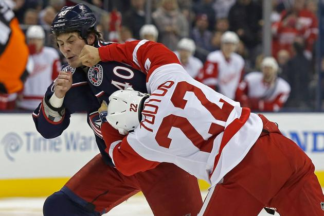 Red Wings Beat Blue Jackets, 4-3, in Shootout, on Brilliant Goal by Brunner