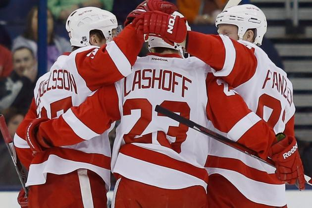 Brian Lashoff Impressive in NHL Debut for Red Wings