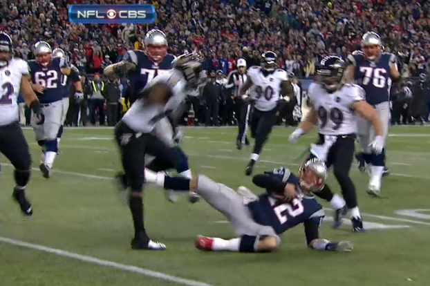 Was Tom Brady's 'Slide/Kick' of Ed Reed Illegal?