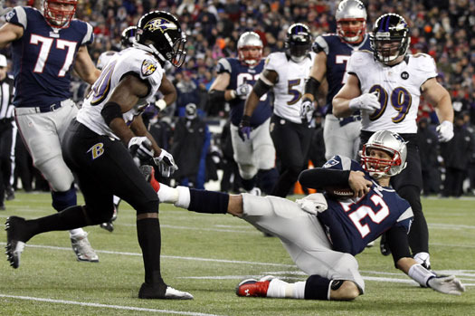 NFL to Review Tom Brady's Slide in AFC Championship for Possible Discipline