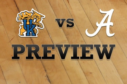 Kentucky vs. Alabama: Full Game Preview