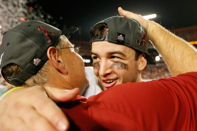 Crimson Tide's AJ McCarron Earns 2012 CFPA Quarterback Trophy