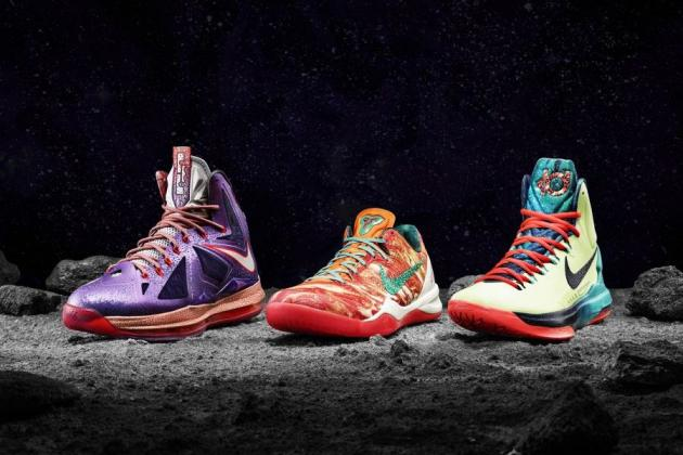 Breaking Down LeBron, Kobe and Durant 2013 NBA All-Star Collection Nike Shoes