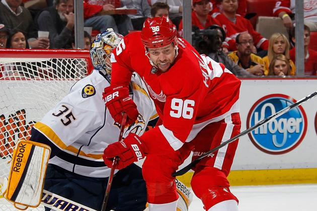Longtime Red Wings Forward Tomas Holmstrom Announces Retirement