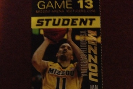 Guess Who's Face Is on the Ticket for Mizzou's Game vs. South Carolina?