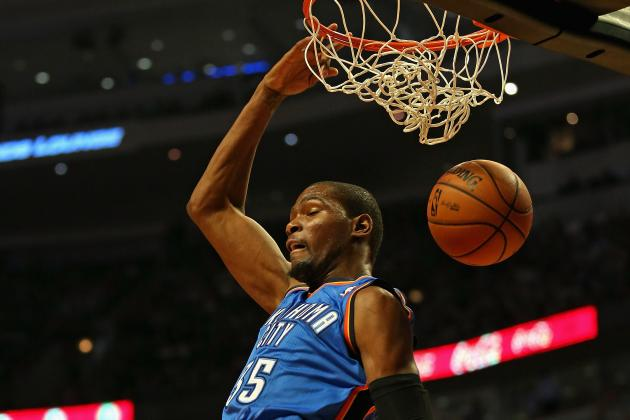 Video: Thunder's Kevin Durant Dunks on Clippers' Lamar Odom