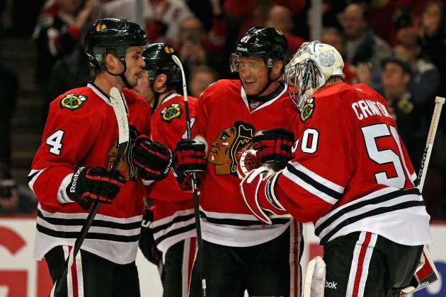 Blackhawks Hold on to Edge Division Rival Blues