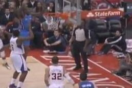 Video: Caron Butler Shot Block Decks Referee Derek Richardson