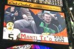 Cavs Bust Out the 'Manti Te'o Kiss Cam'