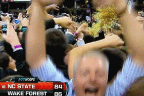 NC State-Wake Forest: Old Guy Storms Deacons' Court (VIDEO )