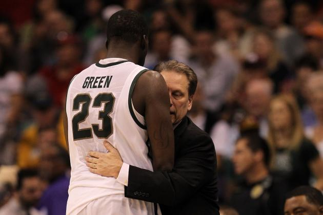 Branden Dawson Accepts Tom Izzo's Challenge