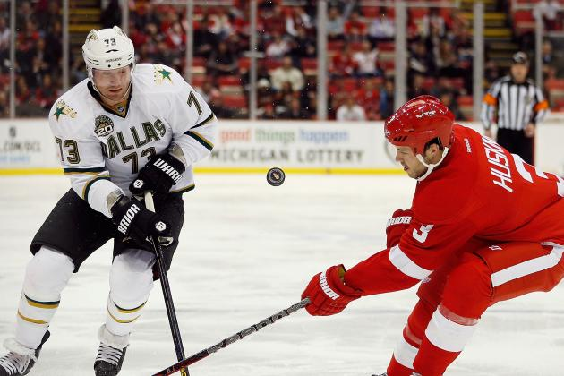 Ryder Scores Twice as Stars Hold off Red Wings