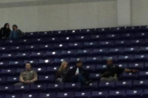 Cops Guarded Tony Romo & His Wife Last Night at Texas H.S. Basketball Game