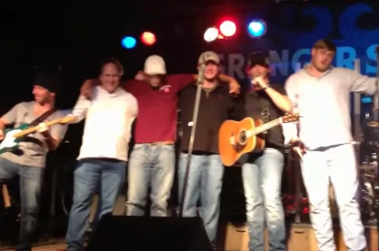 "Watch: Manziel Sings on Stage with Spencer Nealy to ""We Bleed Maroon"""