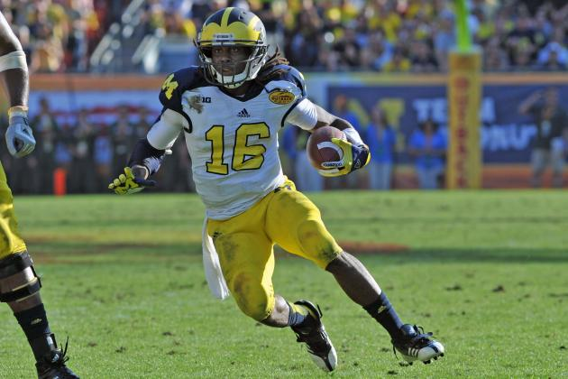"Chargers Scouts Meet with Michigan ""WR"" Denard Robinson"