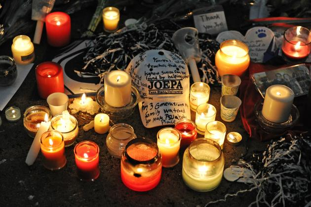 Vigil Held on Anniversary of Paterno's Death