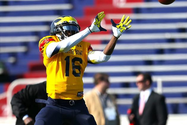 Denard Robinson's Senior Bowl Experience so Far Is a Mixed Bag