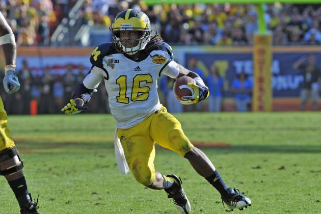 Senior Bowl 2013: Is Denard Robinson the Next Randall Cobb?