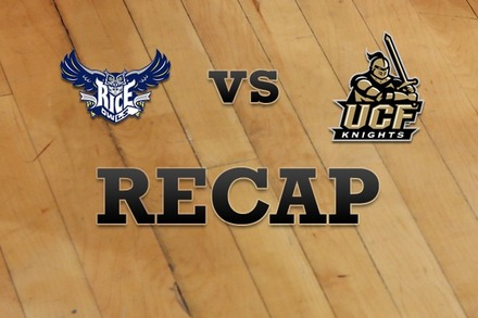 Rice vs. UCF: Recap and Stats