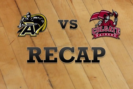 Army vs. Colgate: Recap and Stats
