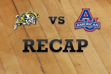 Navy vs. American University: Recap and Stats