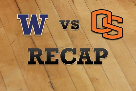Washington vs. Oregon State: Recap and Stats