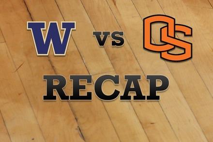 Washington vs. Oregon State: Recap and Stats