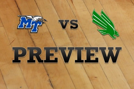Middle Tenn State vs. North Texas: Full Game Preview