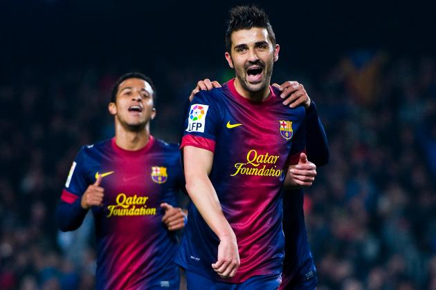 Barcelona's David Villa to Make Comeback Against Malaga