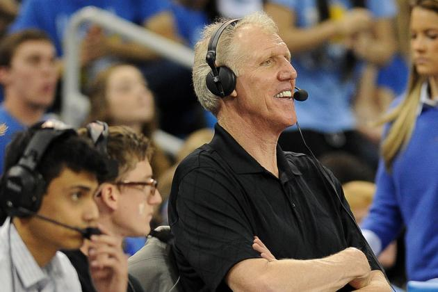 Bill Walton Never Takes a Timeout from Talking