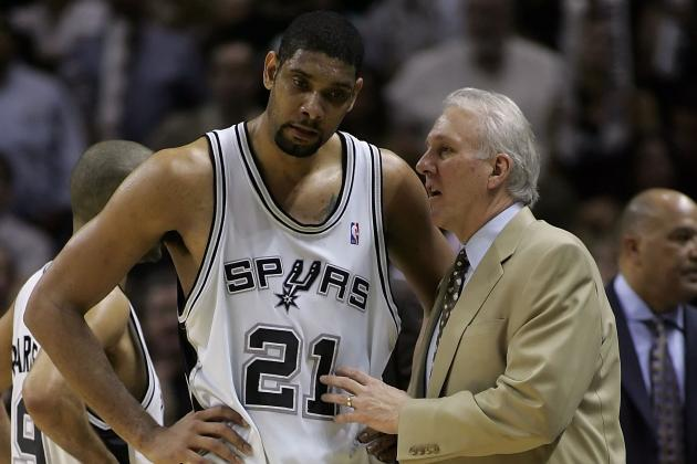 Tim Duncan, Gregg Popovich Don't Make Trip to Dallas