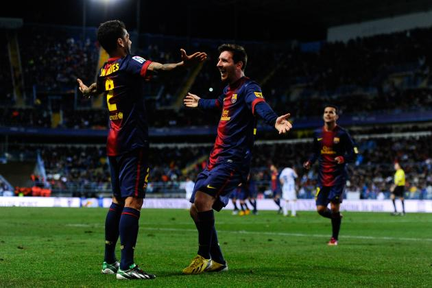 Malaga 2-4 Barcelona: Visitors Move on
