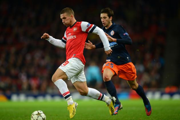 Lukas Podolski Insists He Is Happy to Be Arsenal's Wide Boy