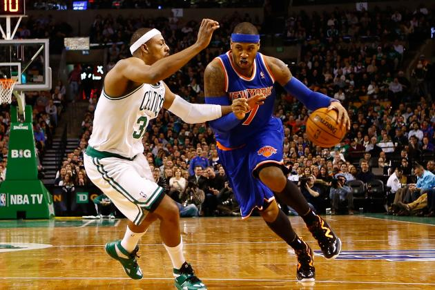 Melo, Knicks Top KG, Reeling Celtics