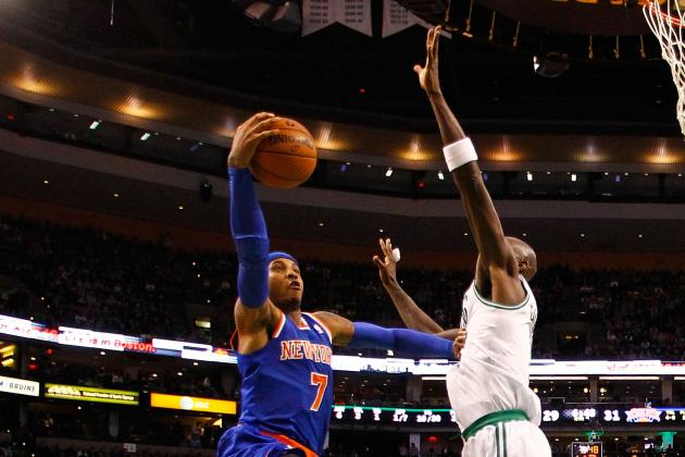 Melo-Led Knicks Get Best of Garnett, Celtics