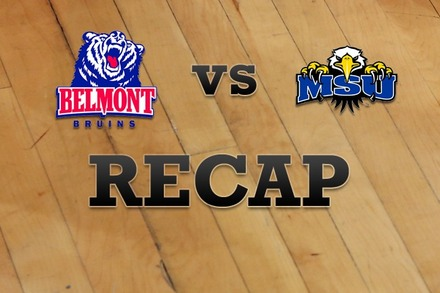 Belmont vs. Morehead State: Recap and Stats