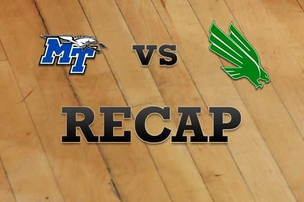 Middle Tenn State vs. North Texas: Recap and Stats