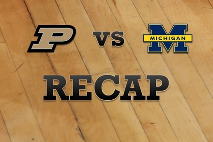 Purdue vs. Michigan: Recap and Stats